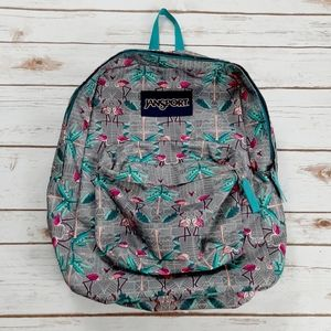 Jansport Backpack Flamingo and Palm Trees